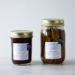 Smoked Onion Marmalade and Dilly Bean Duo