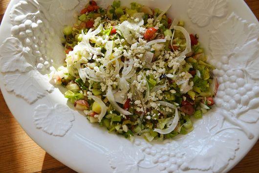 insalata tritata: {chopped salad}