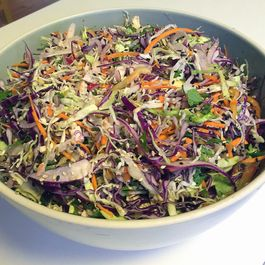 Asian-style Cabbage Slaw w/Tofu and Crunchy Ramen