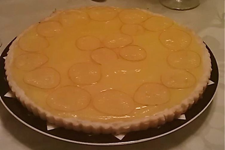 Lemon Tart with Candied Lemon Slices