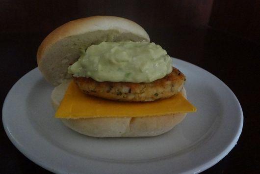 Salmon Burger Avocado Tartar Sauce