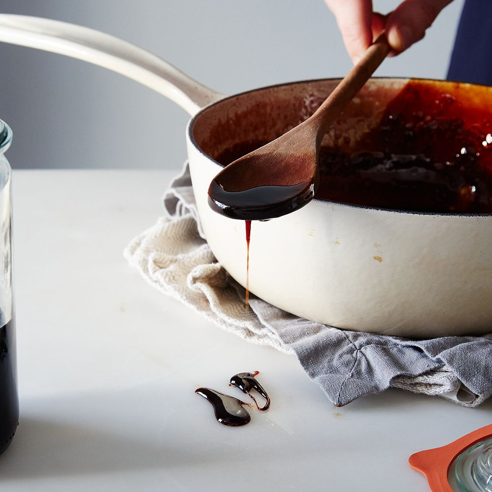 With 80 minutes on the stove, plus 30 minutes of cooling, you have pomegranate molasses.