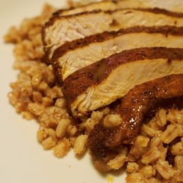 Curried Chicken with Farro and Apple