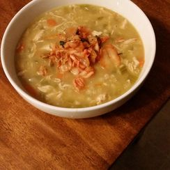 Granny Karate's 'Korean' Chicken Remedy Soup (For the Bachelor's Lady's Cold)