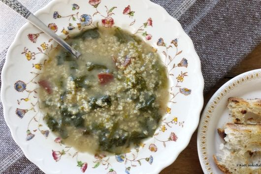 Curly Endive and Millet Soup
