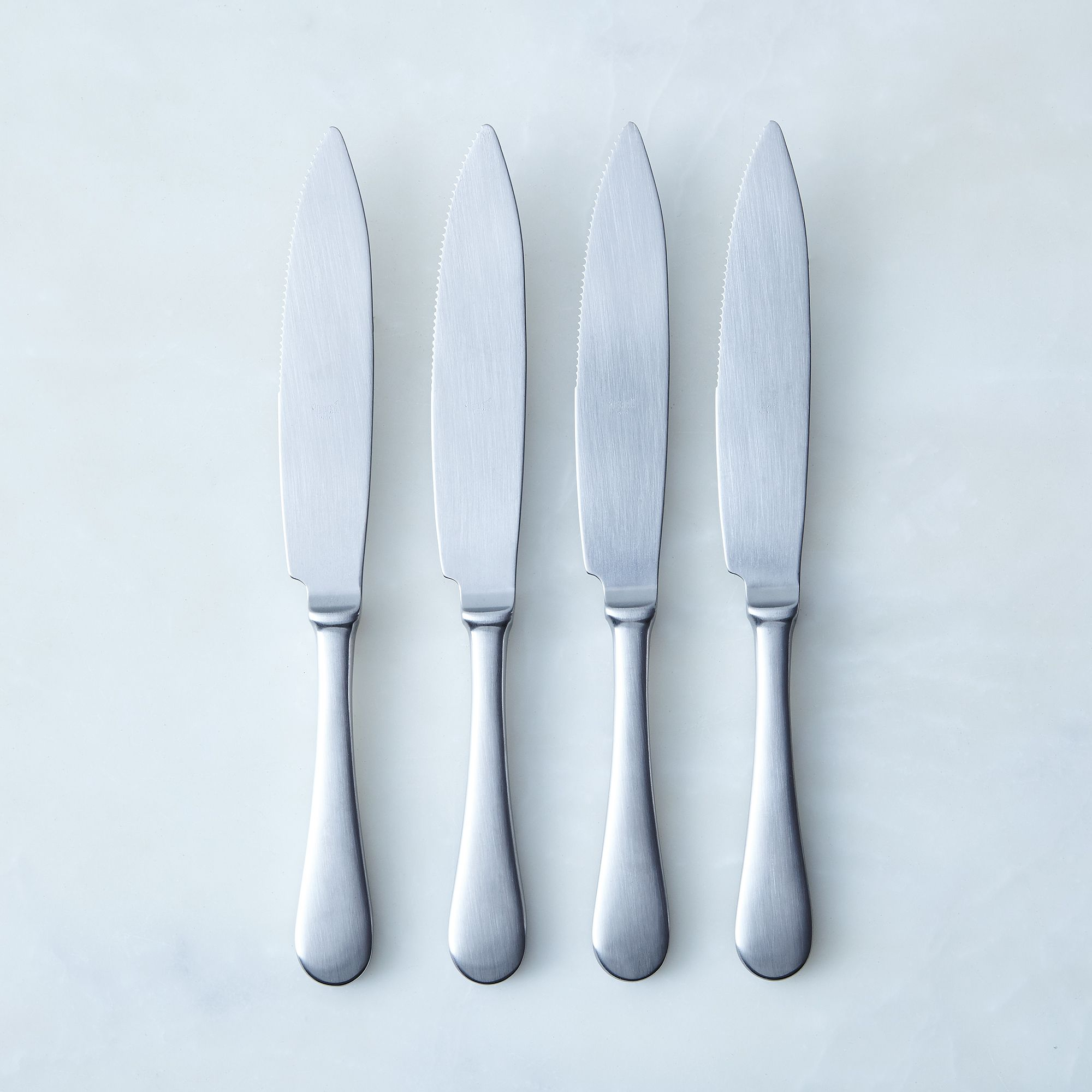 Italian Steak Knives (set Of 4) Stainless Steel Brushed