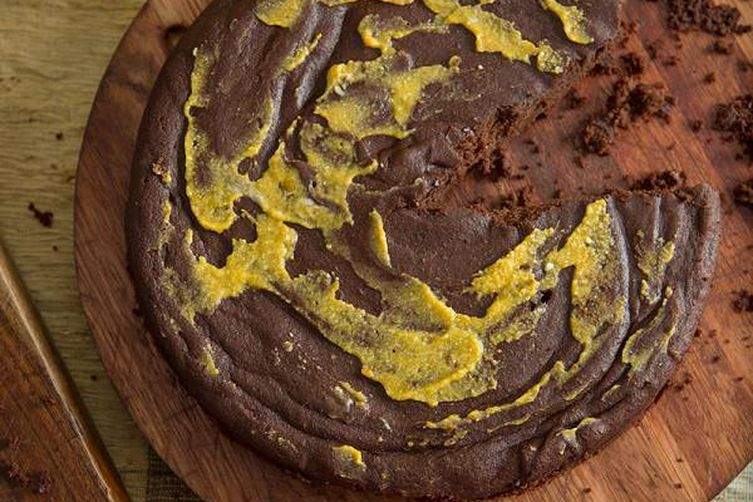 Almost Paleo Chocolate Pumpkin Cake