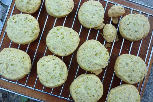 Biscotti Sable' with Bronte Pistachios