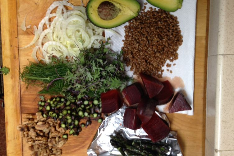 Walnut Avocado & Beet Tartine