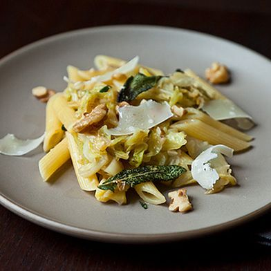 Weeknight Pasta with Caramelized Cabbage, Sage-Infused Brown Butter & Walnuts