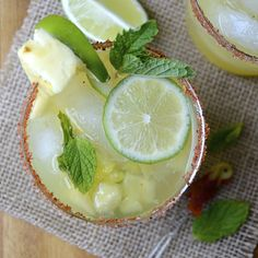 pineapple mint mojito