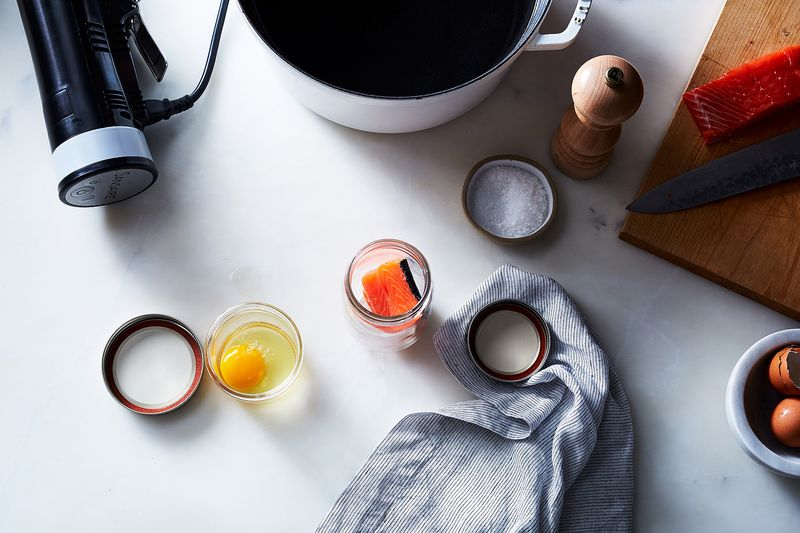 You can use jars for sous vide eggs, salmon, and more.