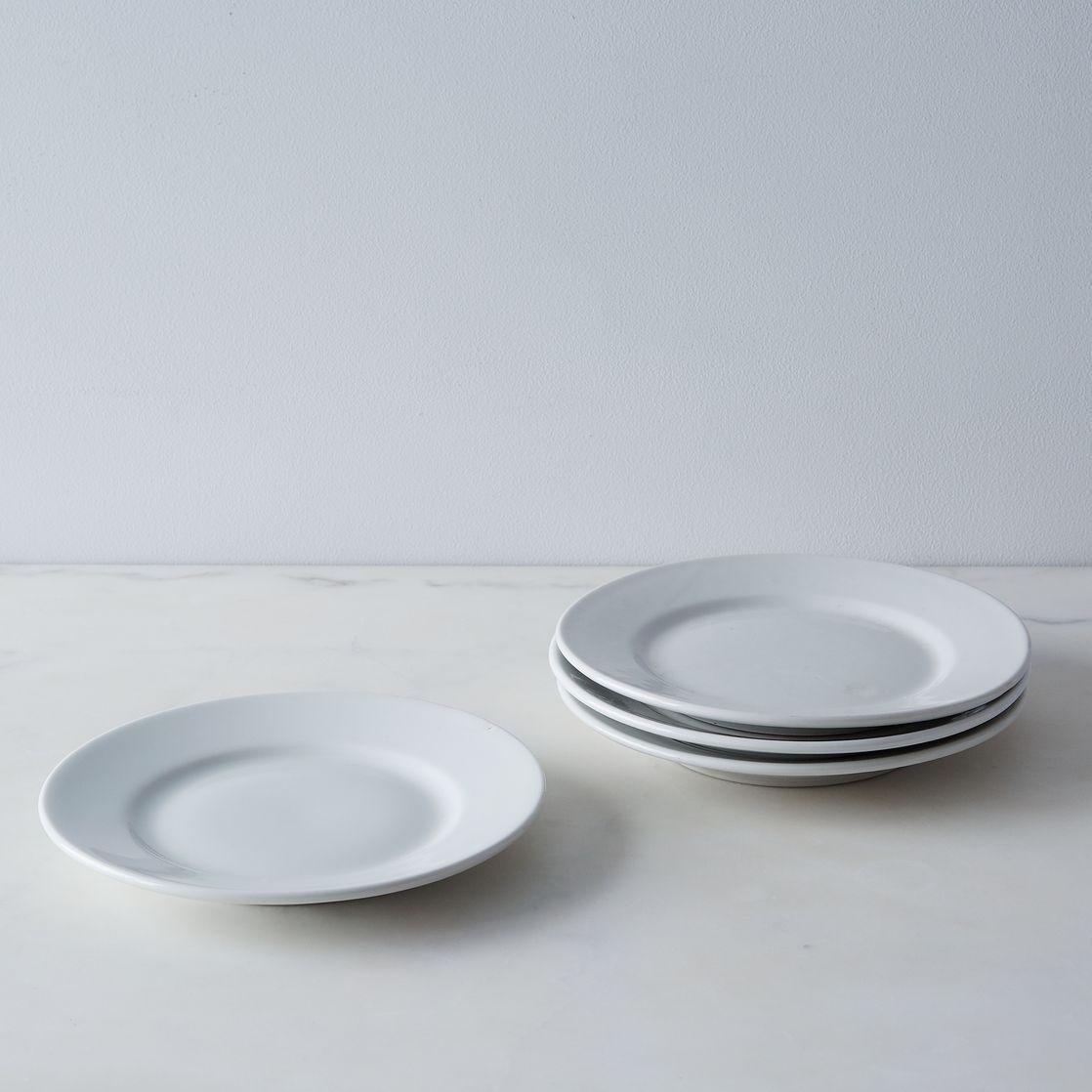 vintage french porcelain salad plates (set of )  salad plates  - vintage french porcelain salad plates (set of )