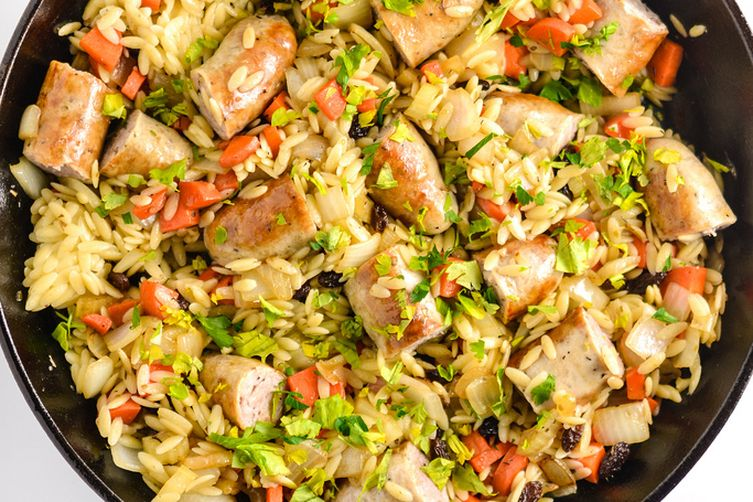 Orzo Pilaf with Italian Sausage