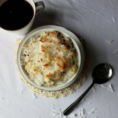 Coconut Macaroon Baked Oatmeal