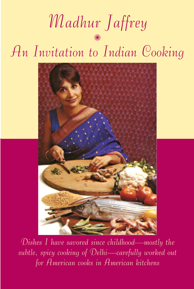 Madhur Jaffrey's first cookbook, 'An Invitation to Indian Cooking' (1973).