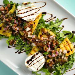 Grilled Polenta Salad With Burrata