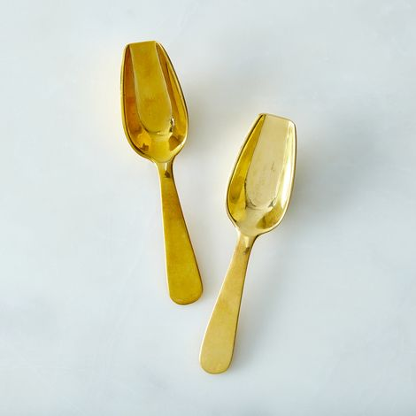 Brass Petite Scoop (Set of 2)
