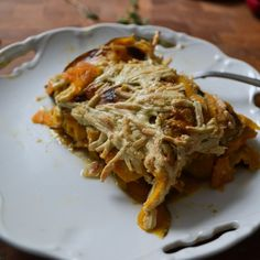 Sweet Potato, Tahini & Swiss Chard Gratin