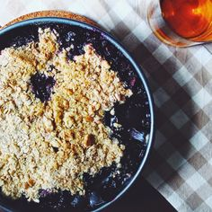 Blueberry, Nectarine & Bourbon Crisp