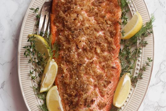 Mustard-Crusted Trout