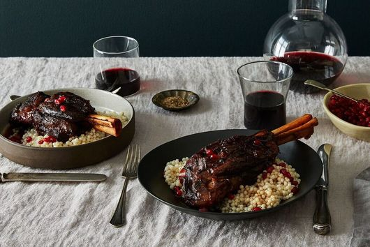 Pomegranate Braised Lamb Shanks