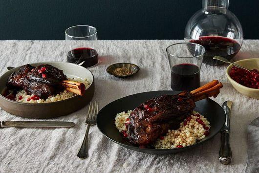 Pomegranate-Braised Lamb Shanks