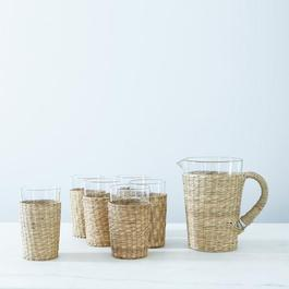 Seagrass Pitcher & Tumblers