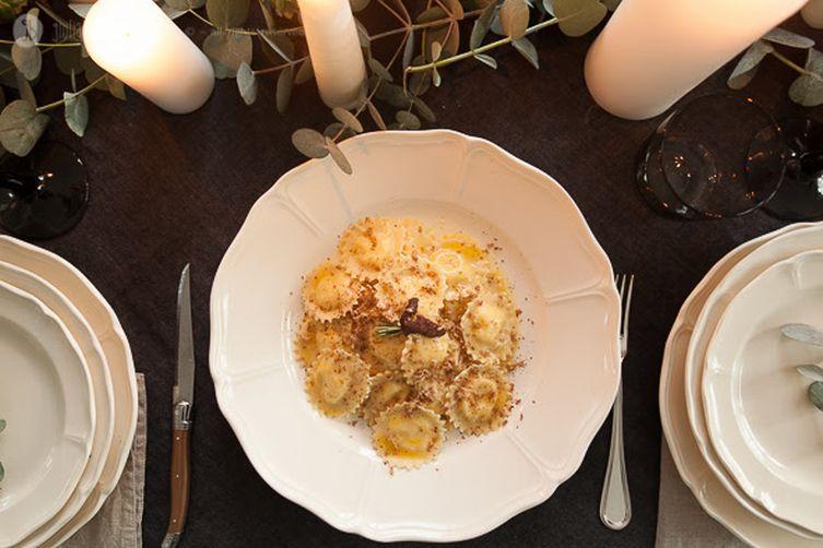 ravioli di fonduta with truffle