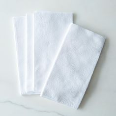 Seersucker Cloth Napkins, White (Set of 4)