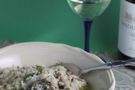 Mushroom Asparagus Risotto