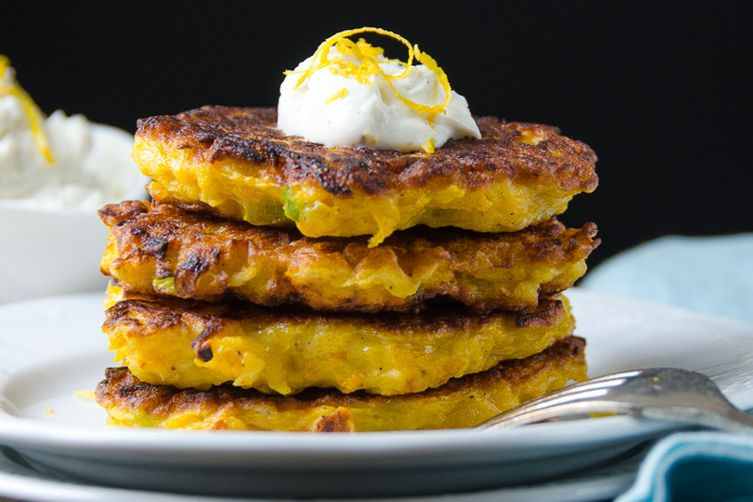 butternut fritters and lemon chèvre