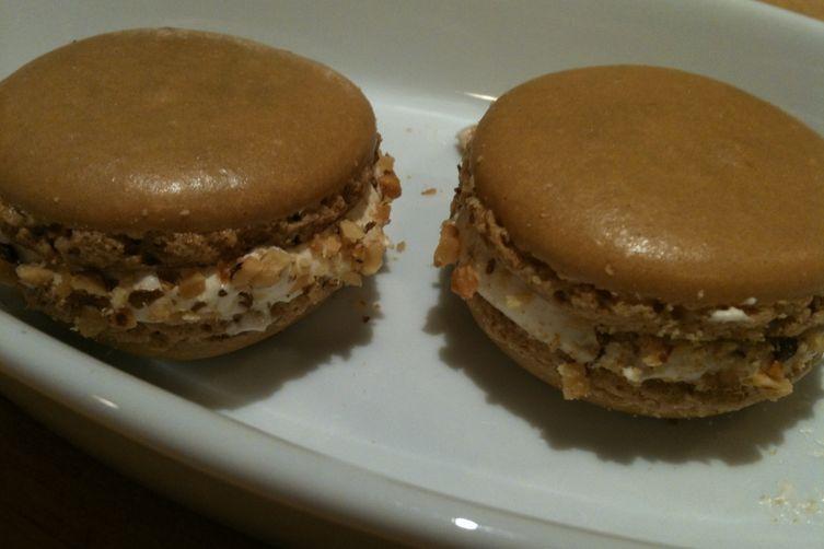 Salted Maple Walnut Macarons
