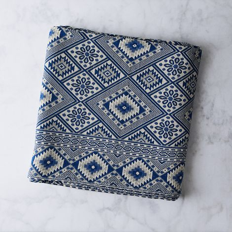 Blue Sea Jacquard Blanket