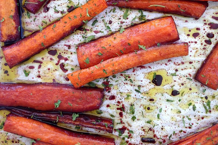 Spicy Pomegranate Carrots