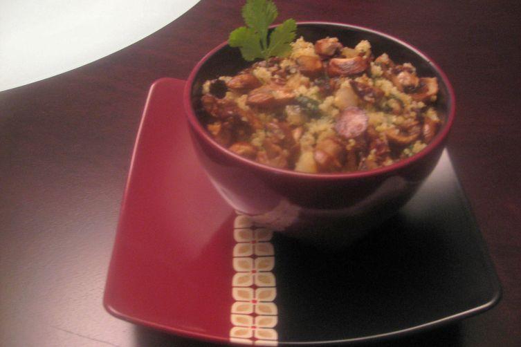 Cilantro & mushroom fried quinoa