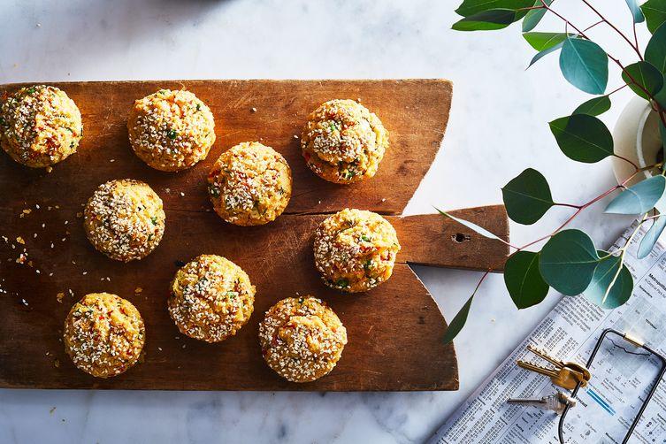 Vegetable-Stuffed Snack Cakes