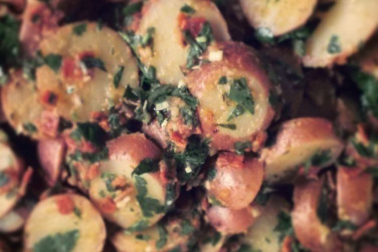 Potato Salad with Salami Gremolata