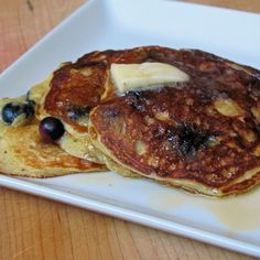 Lemon-Blueberry Yogurt Pancakes