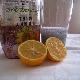 Lemonade with honey and sweet basil seeds