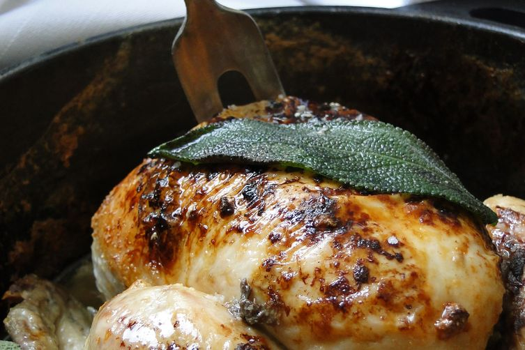 Coq au lait - roast chicken in milk