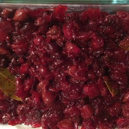Bay-Infused Cranberry Sauce with Dried Tart Cherries