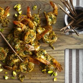 Grilled Shrimp with Pistachio Pesto