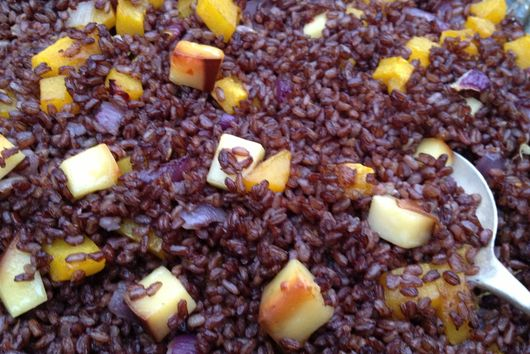 smokey red rice with pumpkin