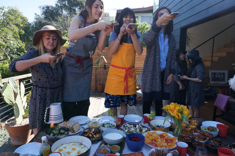 Instagrammers from left: Courtney Perkins, Food52's Kristina Wasserman, Joy Cho, and Bonnie Tsang.