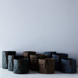 Waxed Canvas Planters