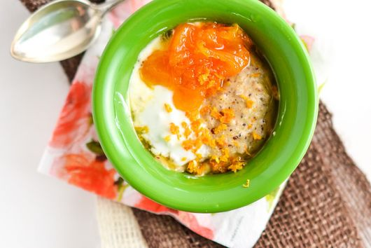 Warm Polenta Bowl with Clementine Compote