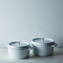 Staub Round Cocotte, White