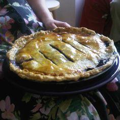 Concord Grape Pie with Walnuts and Orange Zest