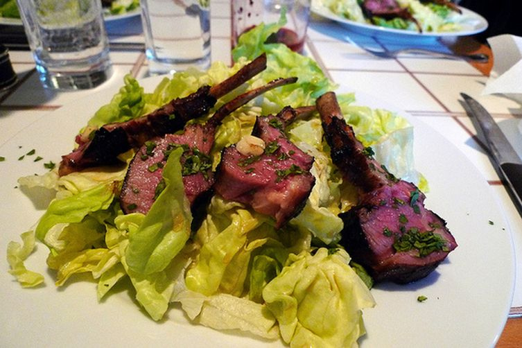 Grilled Rack of Lamb Asian Salad